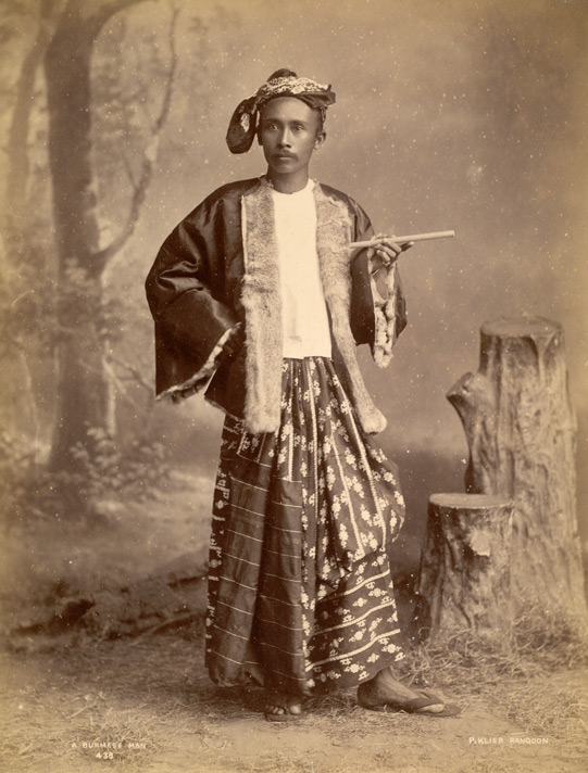 3. Burmese man in traditional taungshay paso, 19th cent. British Library