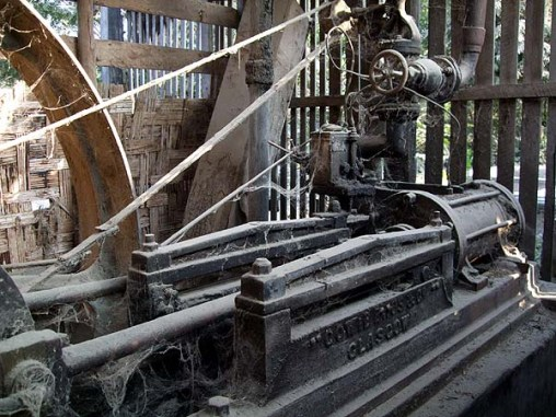 Cowie Bros. Glasgow steam engine photographed near Shwebo source - Temples of Steam