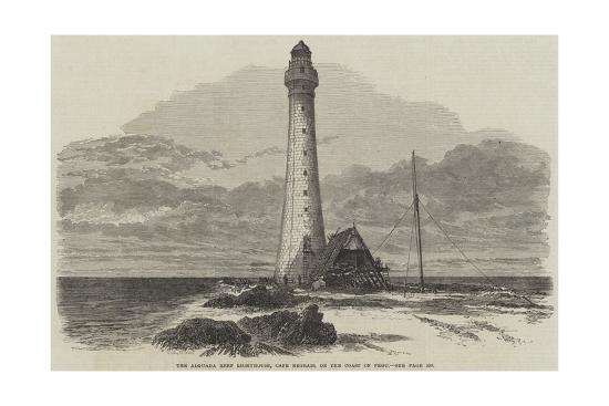 Alguada Reef Lighthouse, Illustrated London News, 21 October 1865
