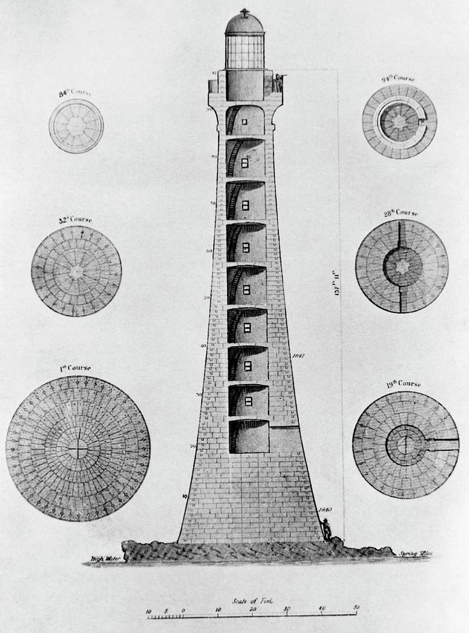 historical-art-of-skerryvore-lighthouse-science-photo-library