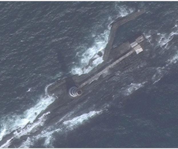Satellite photo of Alguada Reef today
